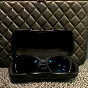 Chanel Butterly Sunglasses Black Frame Blue Lenses